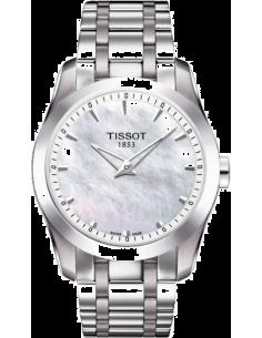 Chic Time | Montre femme Tissot Couturier Grande date T0352461111100 Bracelet en acier inoxydable  | Prix : 345,00€