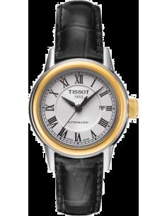 Chic Time | Montre Femme Tissot Carson Automatic T0852072601300 bracelet en cuir noir  | Prix : 545,00€