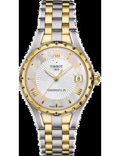 Chic Time | Montre Femme Tissot Lady T072 T0722072211800 Bracelet en acier argenté et or jaune  | Prix : 725,00€