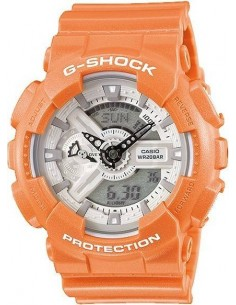 Chic Time | Montre Homme Casio G-Shock GA-110SG-4ER bracelet orange en résine  | Prix : 103,20 €