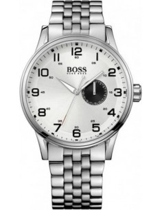 Chic Time | Montre Homme Hugo Boss Sport 1512791 Bracelet en acier inoxydable et cadran blanc  | Prix : 221,40€