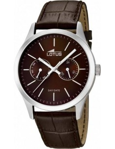 Chic Time | Montre Homme Lotus Minimalist L15956/2 bracelet et cadran de couleur marron  | Prix : 71,20€