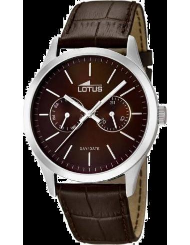 Montre Homme Lotus Minimalist L15956/2 bracelet et cadran de couleur marron