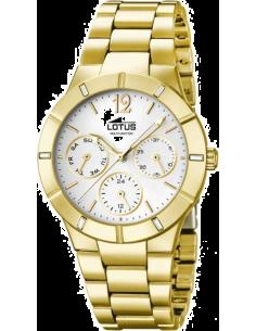Chic Time | Montre Femme Lotus Trendy L15914/1 Multifonction Bracelet en acier inoxydable doré  | Prix : 119,00€