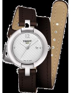 Chic Time | Montre Femme Tissot Pinky T0842101601703 Bracelet long et fin en cuir brun  | Prix : 250,00€