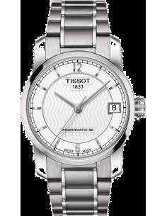 Chic Time | Montre Femme Tissot Titanium Automatic Lady T0872074403700 cadran blanc  | Prix : 657,00€