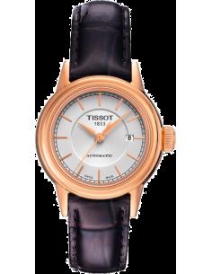 Chic Time | Montre Femme Tissot Carson Automatic T0852073601100 Boîtier acier or rose  | Prix : 562,50€
