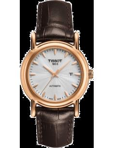 Chic Time   Montre Femme Tissot Carson Automatic T9070077603100 Bracelet en cuir brun    Prix : 1,675.00