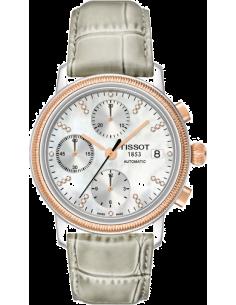 Chic Time | Montre Femme Tissot Bridgeport Lady automatic T71147976 Bracelet en cuir gris  | Prix : 1,386.00