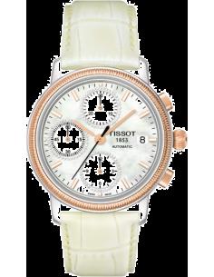 Chic Time   Montre Femme Tissot Bridgeport Lady automatic T71148076 Bracelet en cuir blanc    Prix : 2,016.00
