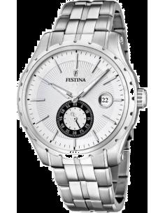 Chic Time | Montre Homme Festina Retro Look F16679/1 Bracelet et cadran argentés  | Prix : 119,00€