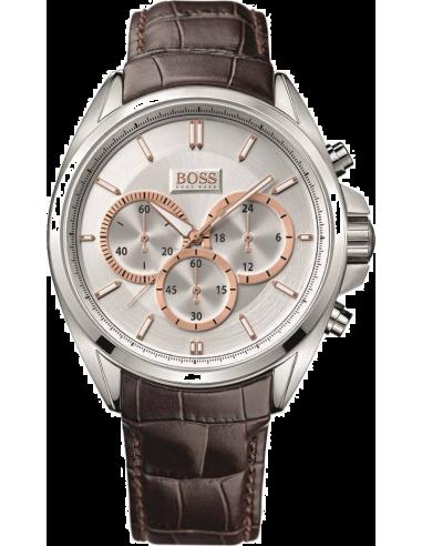 Chic Time   Montre Homme Hugo Boss Sport 1512881 Bracelet en cuir brun    Prix : 319,00€