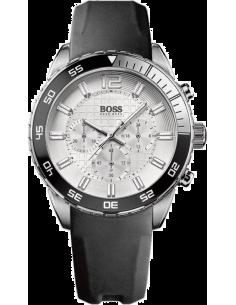 Chic Time   Montre Homme Hugo Boss Iconic 1512805 Bracelet noir en caoutchouc    Prix : 233,40€