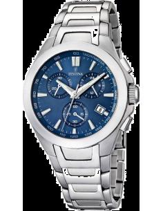 Chic Time   Montre Homme Festina Sport F16678 2 Bracelet argenté et cadran  bleu   0f673774ec4d