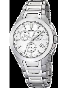 Chic Time   Montre Homme Festina Sport F16678 1 Bracelet argenté et cadran  blanc   9afae1c97cd4