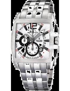 Chic Time   Montre Homme Festina Retro F16393 1 Bracelet en acier argenté    Prix 95732414aa90