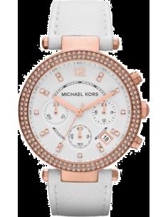 Chic Time | Montre Femme Michael Kors Parker MK2281 Bracelet en cuir blanc  | Prix : 254,15€