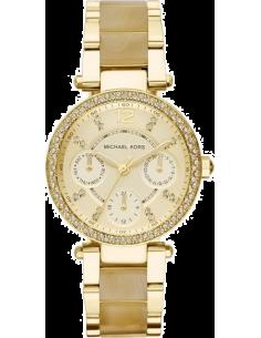 Chic Time | Montre Femme Michael Kors Parker MK5842 Bracelet en acier doré et acétate  | Prix : 254,15€