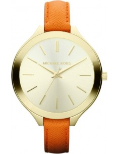 Chic Time | Montre Femme Michael Kors MK2275 Bracelet fin en cuir orange  | Prix : 169,15 €