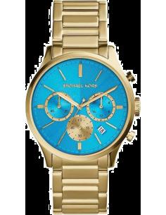 Chic Time | Montre Femme Michael Kors Bailey MK5910 Bracelet doré et cadran turquoise  | Prix : 186,75€