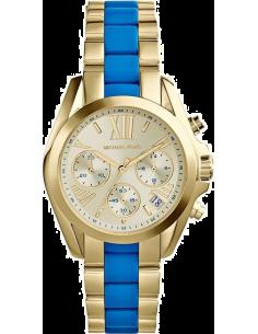 Chic Time | Montre Femme Michael Kors Bradshaw MK5908 Bracelet en acier doré et acétate turquoise  | Prix : 245,65€