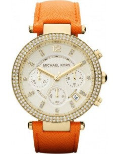 Chic Time | Montre Femme Michael Kors MK2279 Bracelet orange en cuir  | Prix : 194,65 €