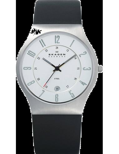 Chic Time   Montre Homme Skagen 233XXLSLC Bracelet Cuir    Prix : 109,99€