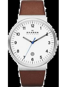 Chic Time | Montre Homme Skagen Klassik SKW6082 Bracelet en cuir de couleur marron  | Prix : 148,99€