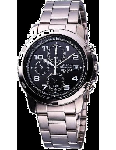 Chic Time | Montre Seiko Titanium Chronograph SNA113P1  | Prix : 449,00€