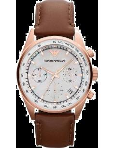 Chic Time | Montre Femme Emporio Armani Sportivo AR5996 Bracelet en cuir marron  | Prix : 269,25€