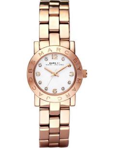Chic Time | Montre Femme Marc By Marc Jacobs Mini Amy MBM3078 Bracelet doré rose en acier inoxydable  | Prix : 199,00€