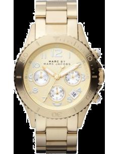 Chic Time | Montre Marc by Mac Jacobs Rock Chrono MBM3188 Bracelet doré jaune en acier  | Prix : 119,60€