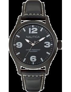 Chic Time | Montre Homme Nautica BFD 102 A13613G Bracelet noir en cuir  | Prix : 52,15€
