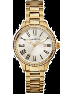 Chic Time | Montre Femme Nautica BFD 101 A16661M Bracelet doré en acier inoxydable  | Prix : 180,00€