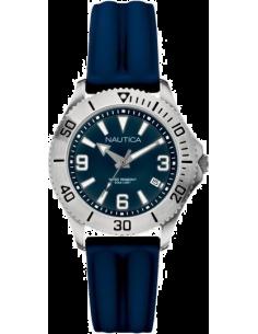 Chic Time | Montre Femme Nautica NAC 102 A11528M Bracelet en silicone bleu foncé  | Prix : 115,00€