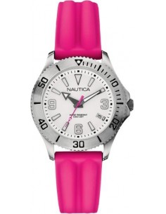 Chic Time | Montre Femme Nautica NAC 102 A11531M Bracelet en silicone rose  | Prix : 115,00€