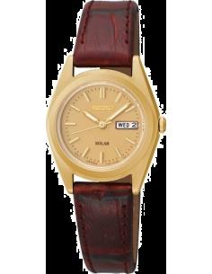 Chic Time | Montre Femme Seiko Solar SUT120 Bracelet en cuir marron  | Prix : 186,75€