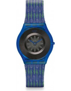 Chic Time | Montre Femme Swatch For the Love of Pattern SFS102  Bleu  | Prix : 65,40 €