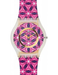 Chic Time | Montre Femme Swatch For the Love of Pattern SFW108 Violet  | Prix : 65,40 €