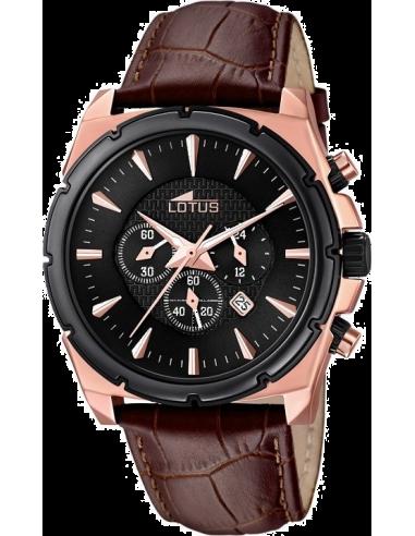 Chic Time   Montre Homme Lotus L18016/1 Chronographe Bracelet en cuir marron    Prix : 149,00€