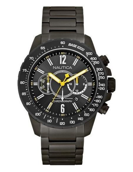 Chic Time | Montre Homme Nautica NST 15 A26537G Bracelet en acier noir  | Prix : 205,00€