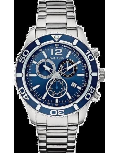 Chic Time | Montre Homme Nautica NST 09 A16665G Bracelet en acier argenté  | Prix : 165,00€