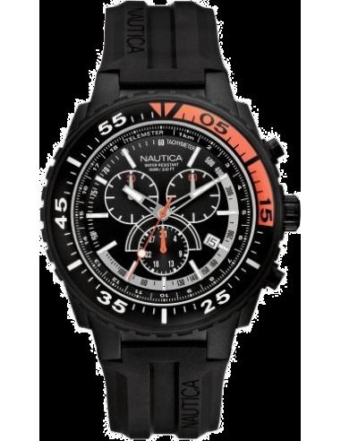 Chic Time   Montre Homme Nautica NST 700 N16657G Multifonction à Cadran noir    Prix : 165,00€