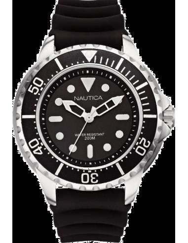 Chic Time   Montre Homme Nautica NMX 650 A18630G Bracelet noir en résine    Prix : 127,99€