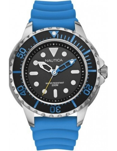 Chic Time   Montre Homme Nautica NMX 650 A18631G Bracelet bleu en résine    Prix : 77,99€