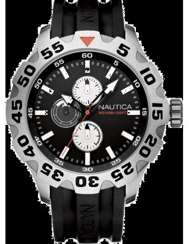 Chic Time | Montre Homme Nautica BFD 100 A15564G Bracelet et cadran noirs  | Prix : 139,00€