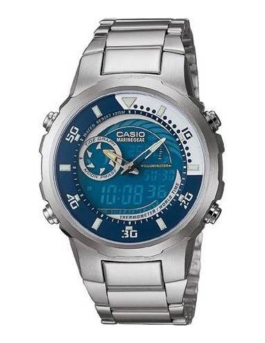 Chic Time | Montre Homme Casio Collection Marine Gear MRP-703D-2AVDF Bracelet en acier argenté  | Prix : 74,90€