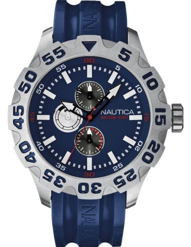 Chic Time   Montre Homme Nautica BFD 100 A15578G Bracelet en résine bleue    Prix : 195,00€