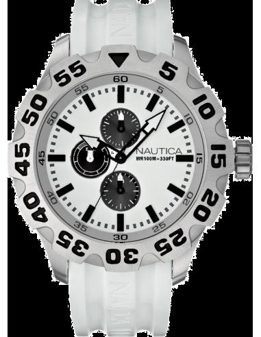 Chic Time | Montre Homme Nautica BFD 100 A15583G Bracelet et cadran blancs  | Prix : 155,99€