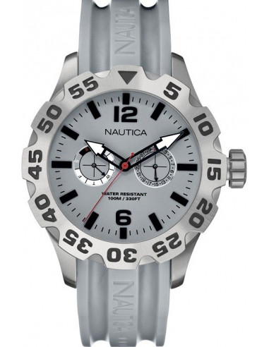 Chic Time | Montre Homme Nautica BFD 100 A16615G Bracelet en résine grise  | Prix : 141,75€